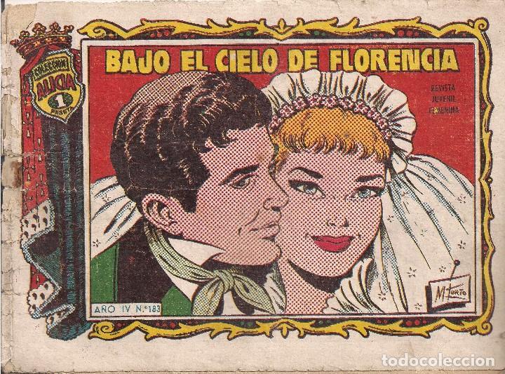 ALICIA. Nº 183 BAJO EL CIELO DE FLORENCIA (Tebeos y Comics - Toray - Alicia)
