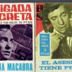 Tebeos: BRIGADA SEGRETA 4 COMICS N,151,179,172 Y 174 EDICIONES TORAY S.A.AÑO 1966. Lote 205146620