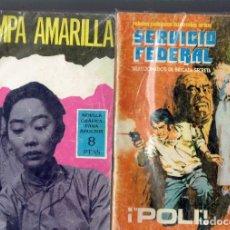 Tebeos: 2 COMICS DE ESPIONAJE TRAMPA AMARILLA N,38 Y SERVICIO FEDERAL POLI EDICIONES TORAY S.A. 1967. Lote 205151038