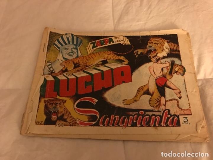CUADERNILLO ZARPA DE LEON LUCHA SANGRIENTA DE TORAY 3 PESETAS (Tebeos y Comics - Toray - Zarpa de León)