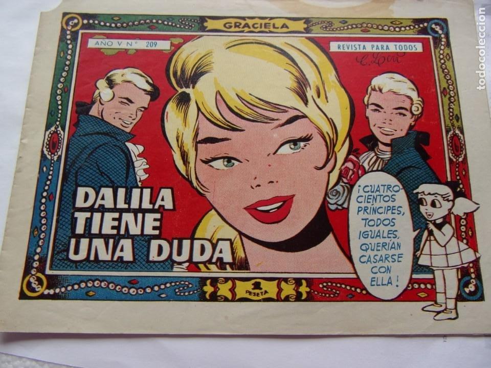 GRACIELA NÚM 209- DALILA TIENE UNA DUDA (Tebeos y Comics - Toray - Graciela)