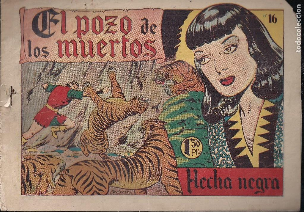 FLECHA NEGRA Nº 16: EL POZO DE LOS DESEOS (Tebeos y Comics - Toray - Flecha Negra)