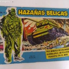 Tebeos: HAZAÑAS BÉLICAS Nº 1 , VOLUMEN 1, NÚMERO 1 , TORAY 1957 ORIGINAL. Lote 206901941