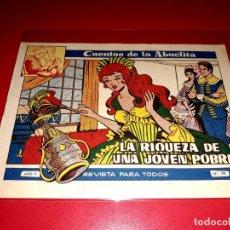 Tebeos: CUENTOS DE LA ABUELITA Nº 281 AÑO 1955 TORAY. Lote 207125523
