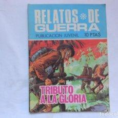 Tebeos: RELATOS DE GUERRA Nº 184 - TRIBUTO A LA GLORIA - NOVELA GRAFICA - TORAY - AÑOS 60. Lote 207166456