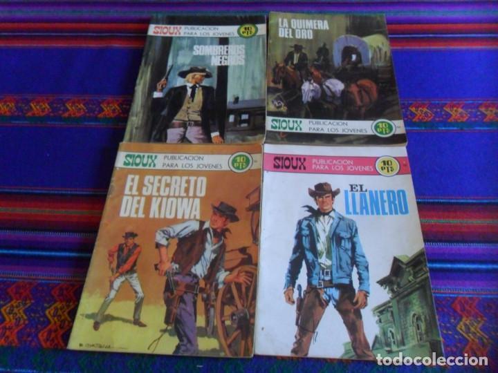 SIOUX NºS 146 BITONO, 161, 164 Y 179 BLANCO Y NEGRO. TORAY 1969. 10 PTS. BUEN ESTADO Y DIFÍCILES. (Tebeos y Comics - Toray - Sioux)