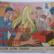 Tebeos: REVISTA JUVENIL AZUCENA NÚM. 1055 - DOS CABEZAS DE CHORLITO. Lote 208200555