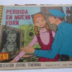Tebeos: REVISTA JUVENIL AZUCENA NÚM. 1074- PERDIDA EN NUEVA YORK. Lote 208318526