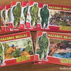 Tebeos: LOTE 22 HAZAÑAS BELICAS SERIE ROJA - ORIGINAL - NUMEROS EN EL INTERIOR DEL ANUNCIO - GCH1. Lote 218392252