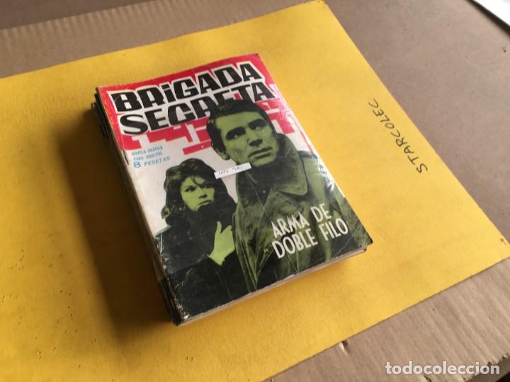 BRIGADA SECRETA. LOTE DE 9 NUMEROS (VER DESCRIPCION) EDITORIAL TORAY AÑO 1962 (Tebeos y Comics - Toray - Brigada Secreta)
