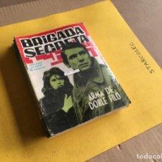Tebeos: BRIGADA SECRETA. LOTE DE 9 NUMEROS (VER DESCRIPCION) EDITORIAL TORAY AÑO 1962. Lote 209388946