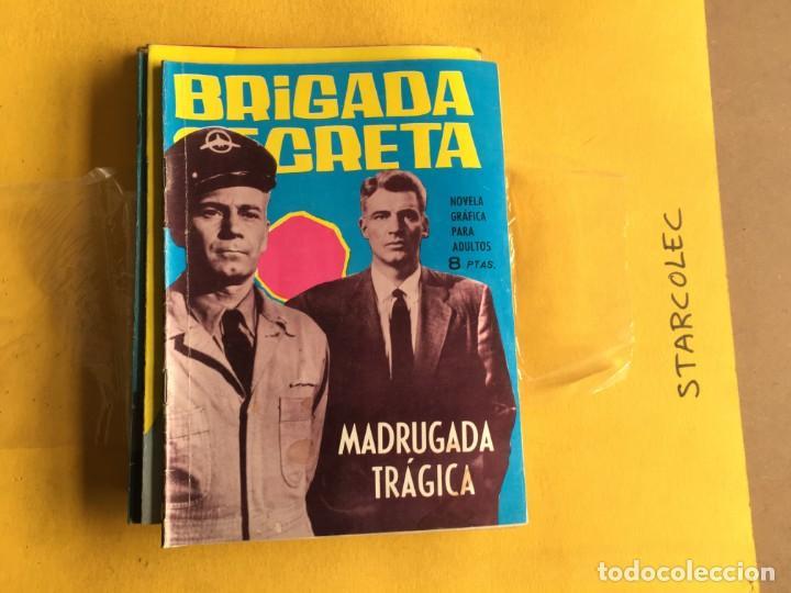 Tebeos: BRIGADA SECRETA. LOTE DE 9 NUMEROS (VER DESCRIPCION) EDITORIAL TORAY AÑO 1962 - Foto 4 - 209388946