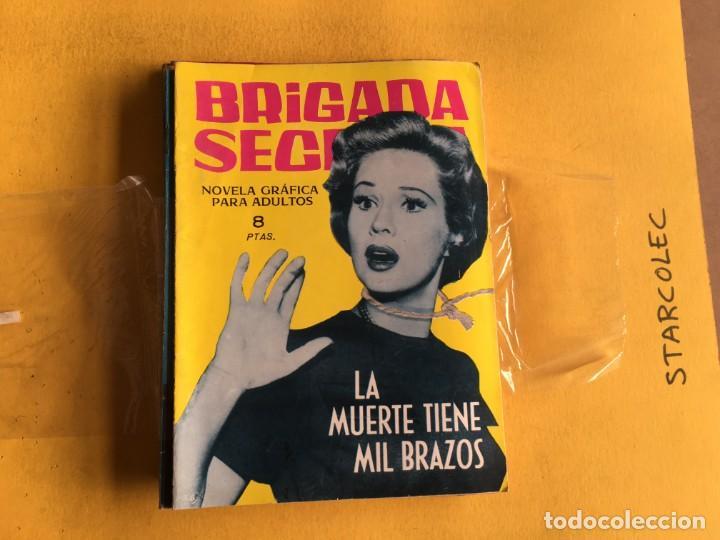 Tebeos: BRIGADA SECRETA. LOTE DE 9 NUMEROS (VER DESCRIPCION) EDITORIAL TORAY AÑO 1962 - Foto 5 - 209388946