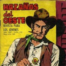 Tebeos: HAZAÑAS DEL OESTE-NOVELA GRÁFICA- Nº 133 -JORGE BUXADÉ-A. PÉREZ-1967-BUENO-DIFÍCIL-LEA-3727. Lote 209866181