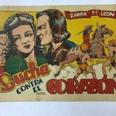 BDs: ZARPA DE LEON , LUCHA CONTRA EL CORAZON, Nº 51 , ANTIGUO , ORIGINAL, 1,25PTAS. Lote 209906482