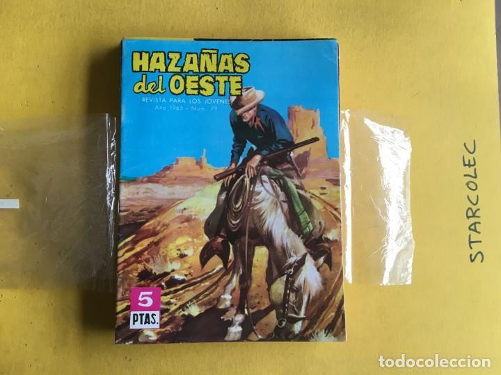 Tebeos: HAZAÑAS DEL OESTE. LOTE DE 10 NUMEROS (VER DESCRIPCION) EDITORIAL TORAY AÑO 1959 - Foto 3 - 209995167