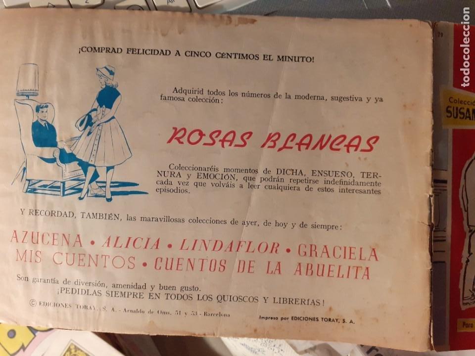 Tebeos: SUSANA-PARA JÓVENES DE 17 AÑOS- Nº 29 -CONSULTA DE 6 A 9-1960-EUGENIO SOTILLOS-CORRECTO-DIFÍCIL-3781 - Foto 3 - 210342722