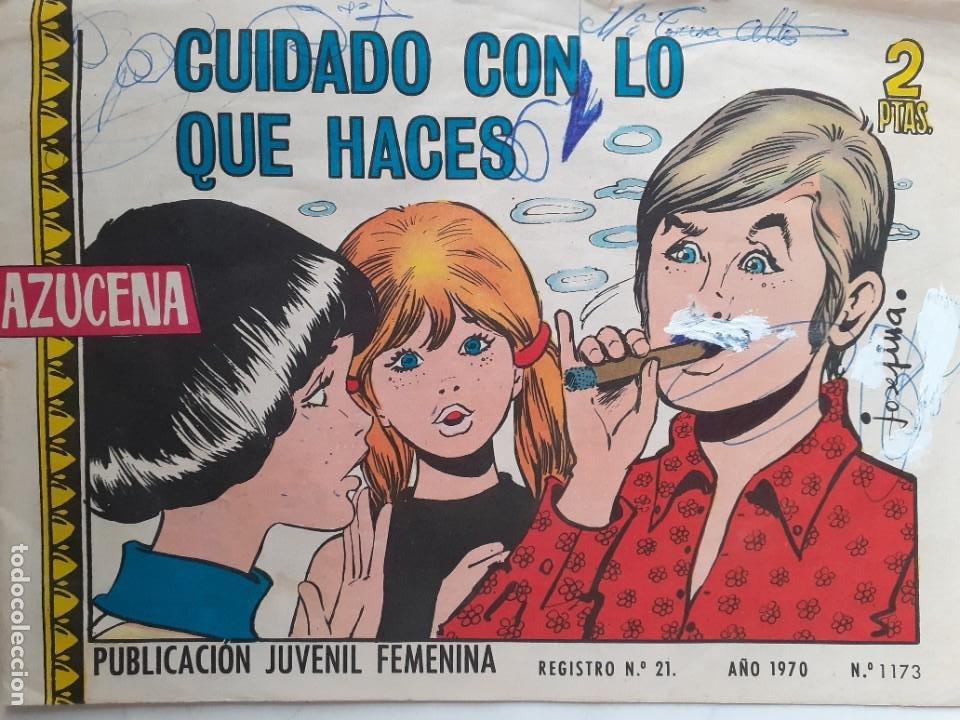 AZUCENA- Nº 1173 -CUIDADO CON LO QUE HACES-GRAN JOSEFINA-1970-MUY RARO-CORRECTO-3826 (Tebeos y Comics - Toray - Azucena)