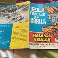 Tebeos: HAZAÑAS BÉLICAS GORILA - EL FRACASO DE GORILA -TORAY - Nº 277- AÑO 1969. Lote 210957415
