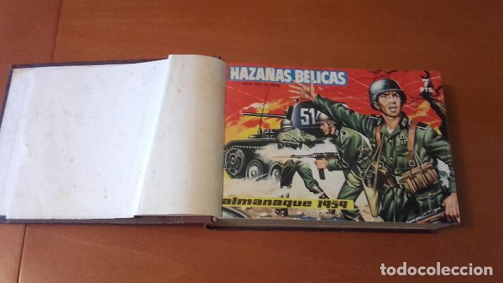 Tebeos: HAZAÑAS BÉLICAS Extra azul EDICIONES TORAY Lote 4 tomos encuadernados - Foto 2 - 212057681