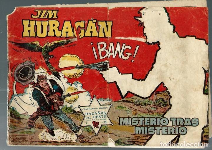 JIM HURACAN Nº 19 - MISTERIO TRAS MISTERIO - TORAY 1959 (Tebeos y Comics - Toray - Hazañas del Oeste)