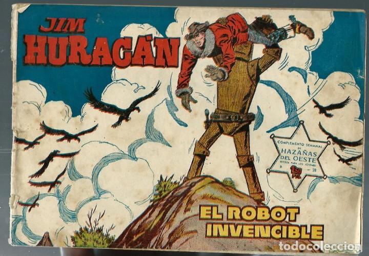 JIM HURACAN Nº 28 - EL ROBOT INVENCIBLE - TORAY 1959 (Tebeos y Comics - Toray - Hazañas del Oeste)