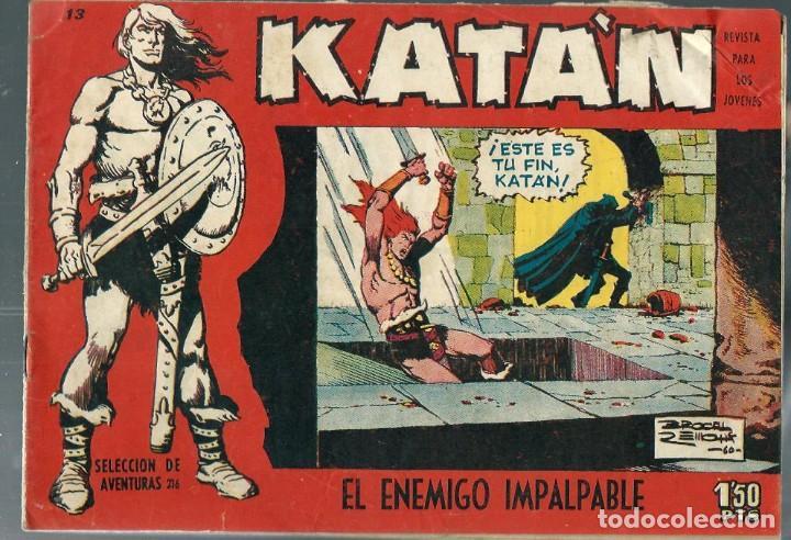 KATAN Nº 13 - EL ENEMIGO IMPALPABLE - TORAY 1958 - ORIGINAL (Tebeos y Comics - Toray - Katan)
