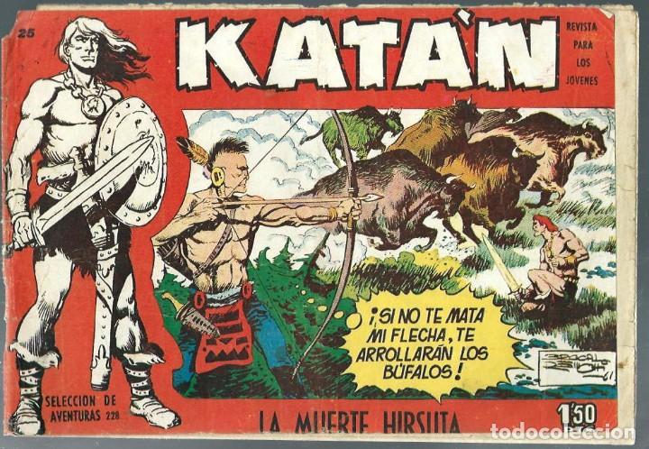 KATAN Nº 25- LA MUERTE HIRSUTA - TORAY 1958 - ORIGINAL (Tebeos y Comics - Toray - Katan)