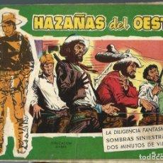 Tebeos: HAZAÑAS DEL OESTE Nº 43 - TORAY - AÑOS 60 - ORIGINAL. Lote 212886396