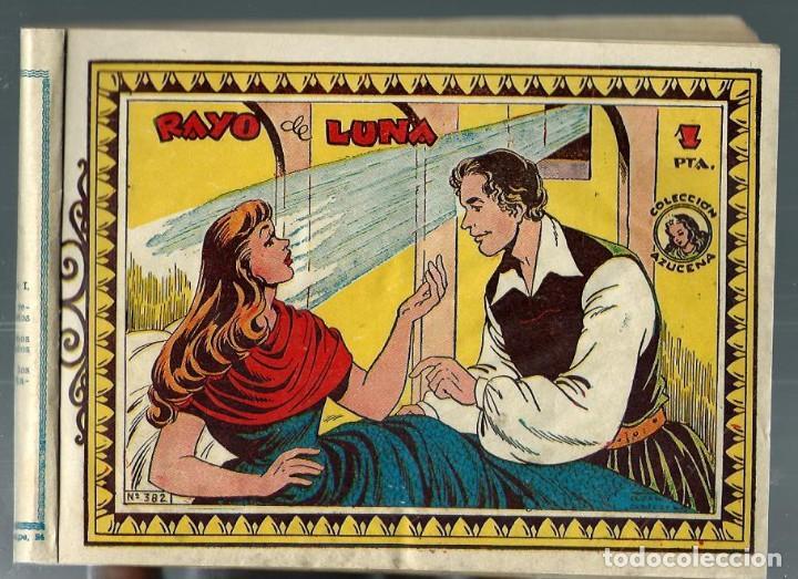 COLECCION AZUCENA - BLOQUE ENCOLADO CON 8 NUMEROS SEGUIDOS Nº 382 A 390 - TORAY (Tebeos y Comics - Toray - Azucena)