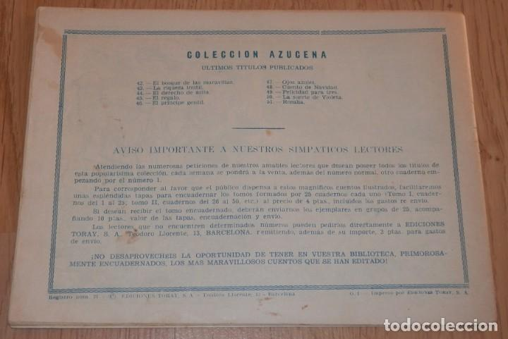 Tebeos: ANTIGUA REVISTA JUVENIL FEMENINA AZUCENA - TORAY - Foto 2 - 213274157
