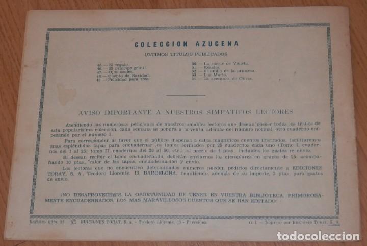 Tebeos: ANTIGUA REVISTA JUVENIL FEMENINA AZUCENA - TORAY - Foto 2 - 213338827