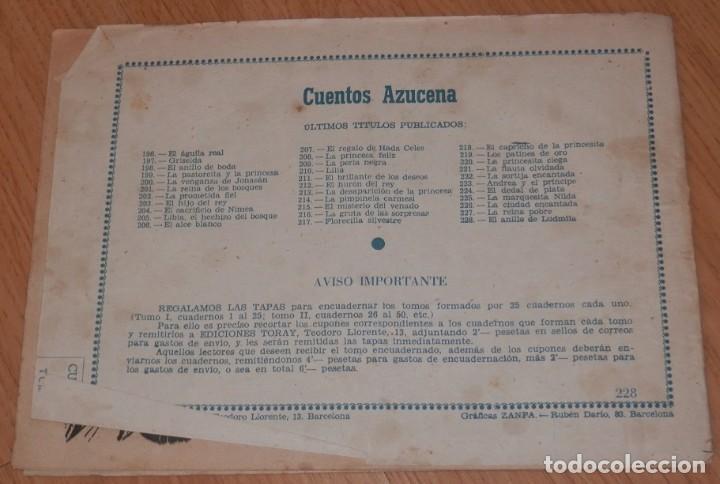 Tebeos: ANTIGUA REVISTA JUVENIL FEMENINA AZUCENA - TORAY - Foto 2 - 213339036