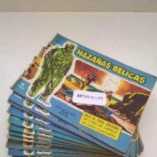Tebeos: LOTE 19 COMIC HAZAÑAS BELICAS SERIE AZUL AÑO 1957 ORIGINAL EPOCA TORAY.. Lote 213537178