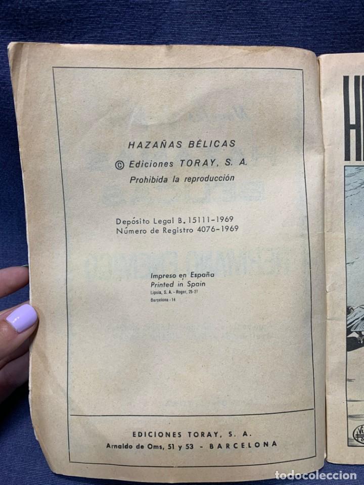 Tebeos: COMIC HAZAÑAS BELICAS ED. TORAY BARCELONA 1969 HERMANO ENEMIGO PUBLIC JOVENES 21X15 - Foto 4 - 213560548