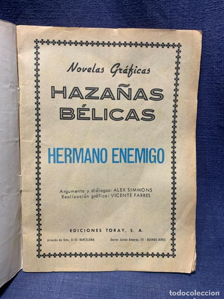 Tebeos: COMIC HAZAÑAS BELICAS ED. TORAY BARCELONA 1969 HERMANO ENEMIGO PUBLIC JOVENES 21X15 - Foto 5 - 213560548