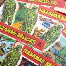 Tebeos: COM-244. HAZAÑAS BÉLICAS SERIE ROJA. LOTE DE 10 CUADERNOS. COMPLETOS. EDICIONES TORAY.. Lote 213712670