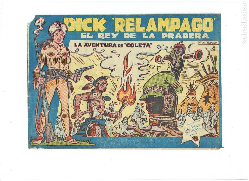* DICK RELAMPAGO Nº 16 * EDICIONES TORAY 1961 * ORIGINAL * (Tebeos y Comics - Toray - Dick Relampago)