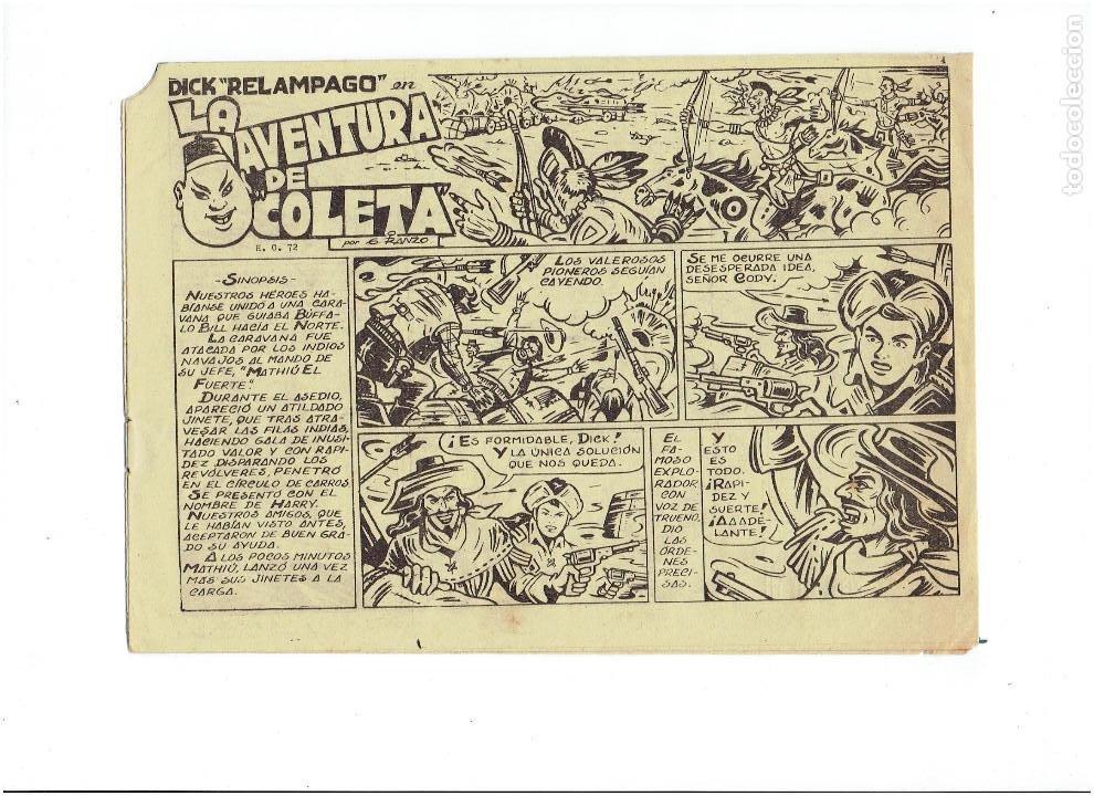 Tebeos: * DICK RELAMPAGO Nº 16 * EDICIONES TORAY 1961 * ORIGINAL * - Foto 2 - 213738451