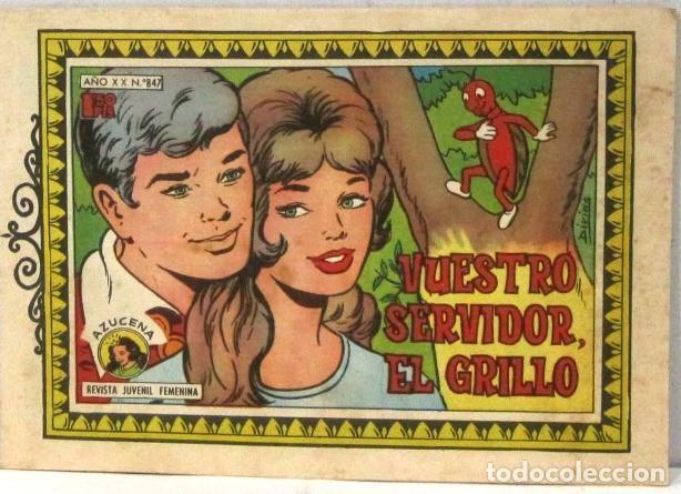 AZUCENA REVISTA JUVENIL FEMENINA - Nº 847 - VUESTRO SERVIDOR EL GRILLO (Tebeos y Comics - Toray - Azucena)