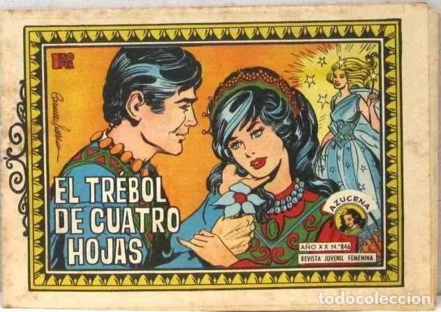 AZUCENA REVISTA JUVENIL FEMENINA - Nº 846 - EL TREBOL DE CUATRO HOJAS (Tebeos y Comics - Toray - Azucena)