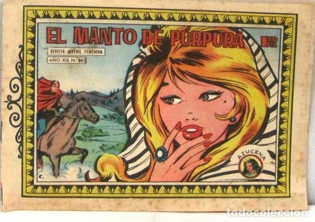 AZUCENA REVISTA JUVENIL FEMENINA - Nº 845 - EL MANTO DE PURPURA (Tebeos y Comics - Toray - Azucena)