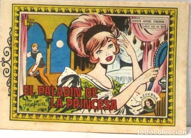 AZUCENA REVISTA JUVENIL FEMENINA - Nº 839 - EL PALADIN DE LA PRINCESA (Tebeos y Comics - Toray - Azucena)