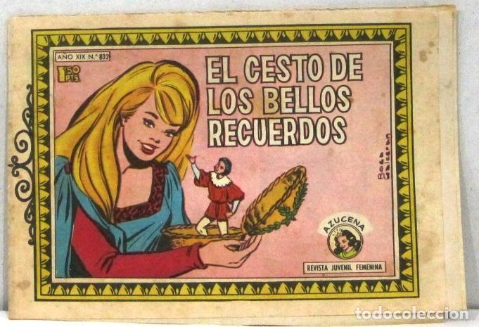 AZUCENA REVISTA JUVENIL FEMENINA - Nº 832 - EL CESTO DE LOS BELLOS RECUERDOS (Tebeos y Comics - Toray - Azucena)