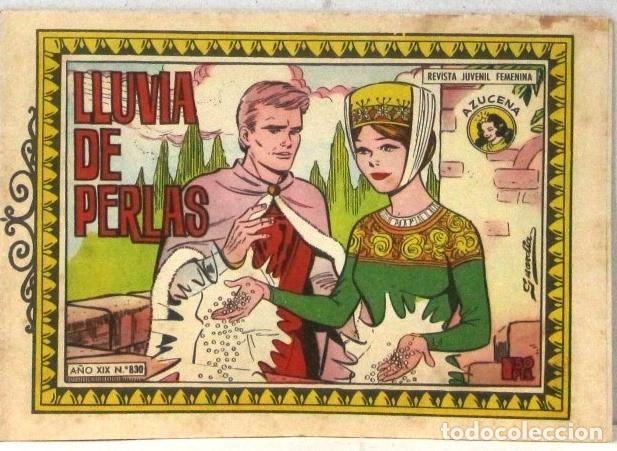 AZUCENA REVISTA JUVENIL FEMENINA - Nº 830 - LLUVIA DE PERLAS (Tebeos y Comics - Toray - Azucena)