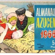 Tebeos: AZUCENA REVISTA JUVENIL FEMENINA - ALMANAQUE 1966. Lote 214167288