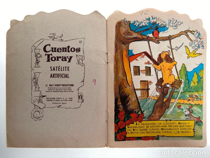 Tebeos: SATÉLITE ARTIFICIAL - LA DAMA Y VAGABUNDO - cuento troquelado Walt Disney - Toray 1958- ORIGINAL - Foto 2 - 214921930