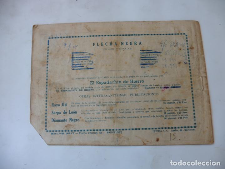 Tebeos: FLECHA NEGRA Nº 15 TORAY ORIGINAL - Foto 2 - 215141016