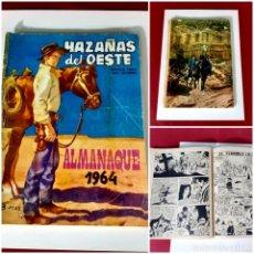 Tebeos: HAZAÑAS DEL OESTE-ALMANAQUE 1964. Lote 215141421