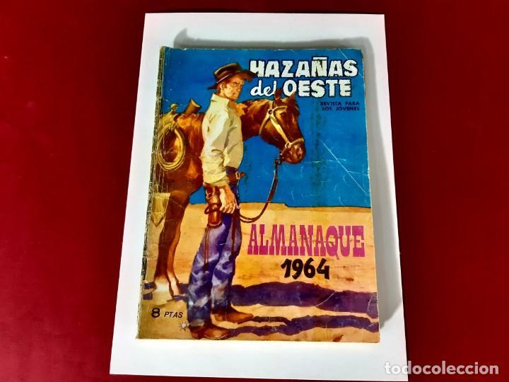 Tebeos: HAZAÑAS DEL OESTE-ALMANAQUE 1964 - Foto 2 - 215141421